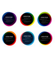set round colorful round abstract shapes vector image vector image