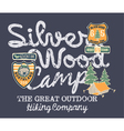 Silver wood camp hiking company vector image vector image