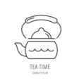 Simple Logo Template Kettle vector image