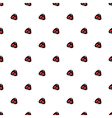 small red stone seamless pattern white background vector image