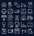 smart things icon set in line style vector image