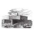 Stockholm Palace vintage engraving vector image vector image
