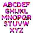 stylized smoothed font and alphabet vector image