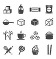 sugar and confectionery black glyph icons vector image vector image