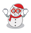 super hero snowman character cartoon style vector image vector image