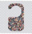 tag people sign 3d vector image