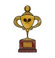 tennis trophy cup vector image vector image