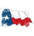 Texas Waving Flag Grunge vector image