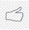thumb down concept linear icon isolated on vector image