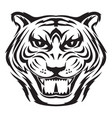 tiger face tattoo vintage engraving vector image vector image