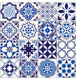 Tile pattern lisbon floral mosaic