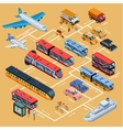 Transport Infographics Isometric Layout vector image vector image