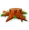 tree stump and mushroom vector image vector image