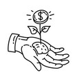 value icon doodle hand drawn or outline icon style vector image