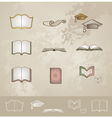 Vintage education icons set vector image