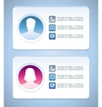 visit card templates vector image vector image