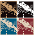 Winding mountain road vector image vector image