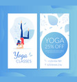 yoga lesson business card gift voucher special vector image vector image
