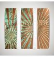 set of vintage banners with grunge cardboard vector image