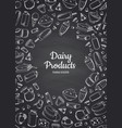 vertical of dairy products vector image