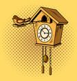 cuckoo clock comic book style vector image