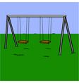 Abandoned swing set vector image