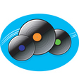 music disc vector image
