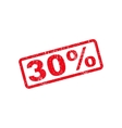 30 Percent Text Rubber Stamp vector image vector image