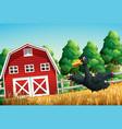 a duck at farm scene vector image