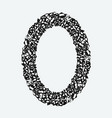 a grunge rough oval frame vector image