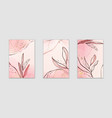 abstract dusty pink and blush liquid watercolor vector image vector image