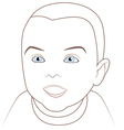 Adorable baby vector image