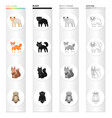 animals wild domestic and other web icon in vector image vector image