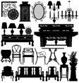 antique old furniture home house a set antique vector image vector image