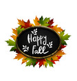 autumn sale autumn leaves are drawn with chalk on vector image vector image