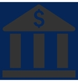 Bank Building Flat Icon vector image vector image