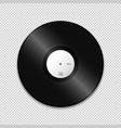 blank vinyl record mockup vector image