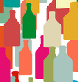 Bottle silhouette color vector image vector image