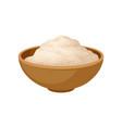 bowl of soy flour healthy diet food vegan source vector image vector image