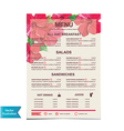 Cafe menu template design vector image vector image