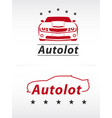 car lot logo vector image vector image
