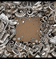 cartoon doodles classic music frame vector image