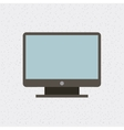 computer monitor isolated icon vector image vector image