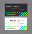 Creative simple horizontal business card for vector image