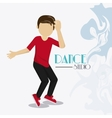 Dance studio avatar dancer design vector image