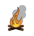 drawing campfire woods camping vector image