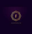f luxury logo monogram letter design vector image