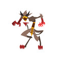 fantasy magical creature character with claws vector image vector image