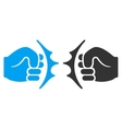 Fist Fight Flat Icon vector image vector image