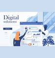 flat modern design digital solutions vector image vector image